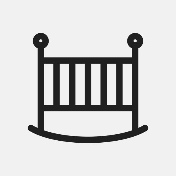 Royalty Free Empty Crib Clip Art, Vector Images ...