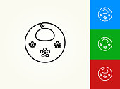Baby Bib Black Stroke Linear Icon