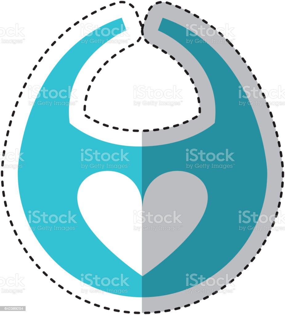 icône isolé de bavoir bébé - Illustration vectorielle