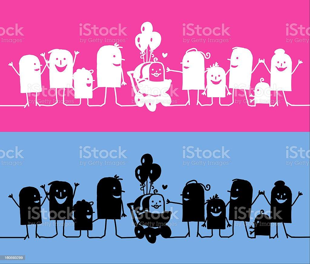 baby birth royalty-free stock vector art