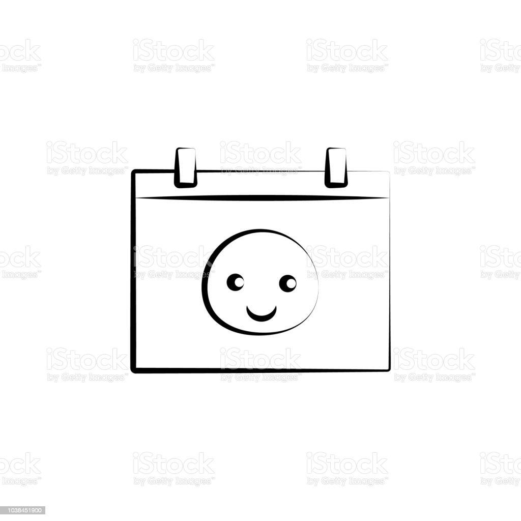 Icône De Ligne Baby Born Calendrier Concept Illustration De Lélément Simple Bébé Né Le Calendrier Contour Symbole Conception Densemble De La