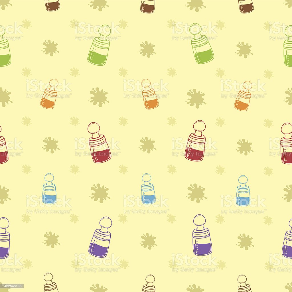 Baby Bottle Background Pattern Royalty Free Stock Vector Art Amp