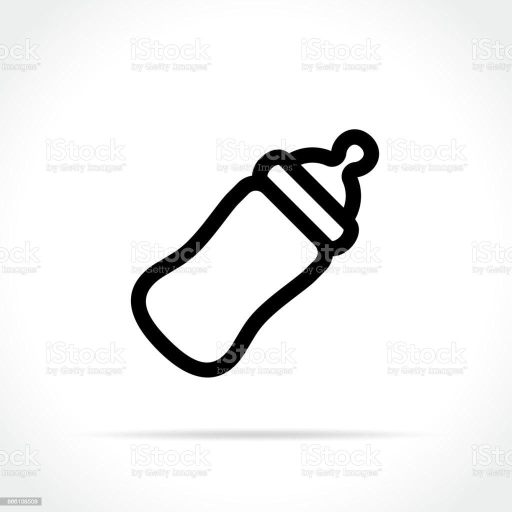 Baby Bottle On White Background Vector Art Illustration