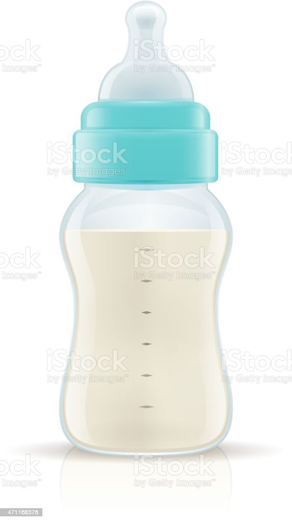 Baby Bottle vector art illustration