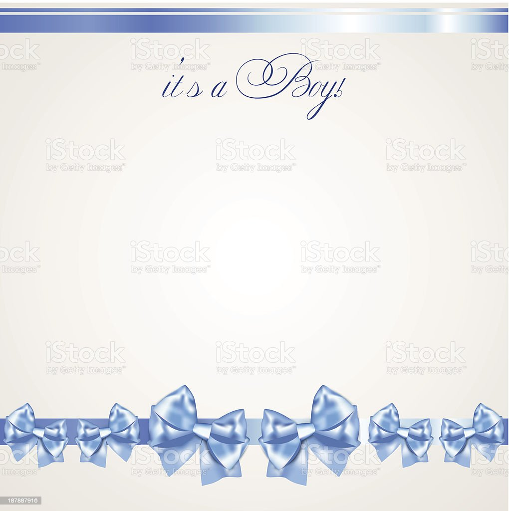 Baby boy announcement card royalty-free baby boy announcement card stock vector art & more images of baby