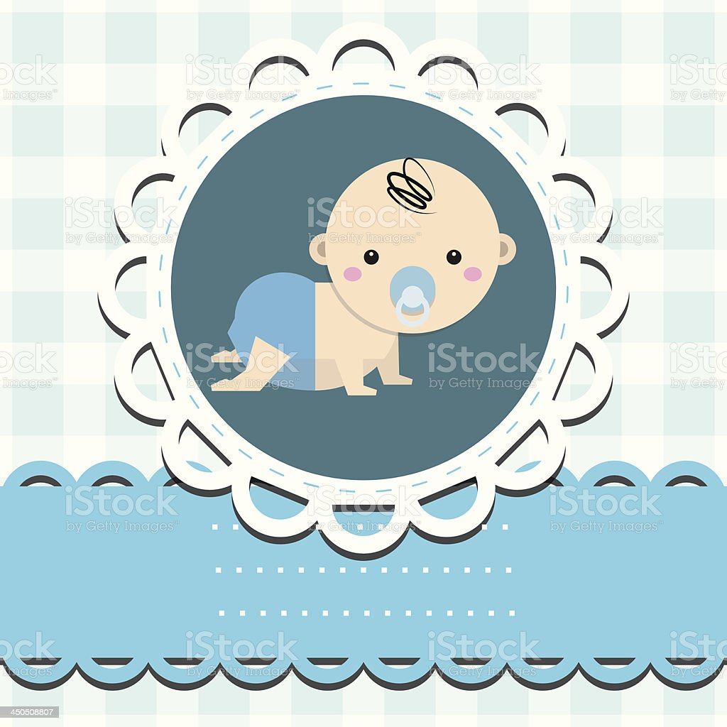 Baby boy announcement card royalty-free stock vector art