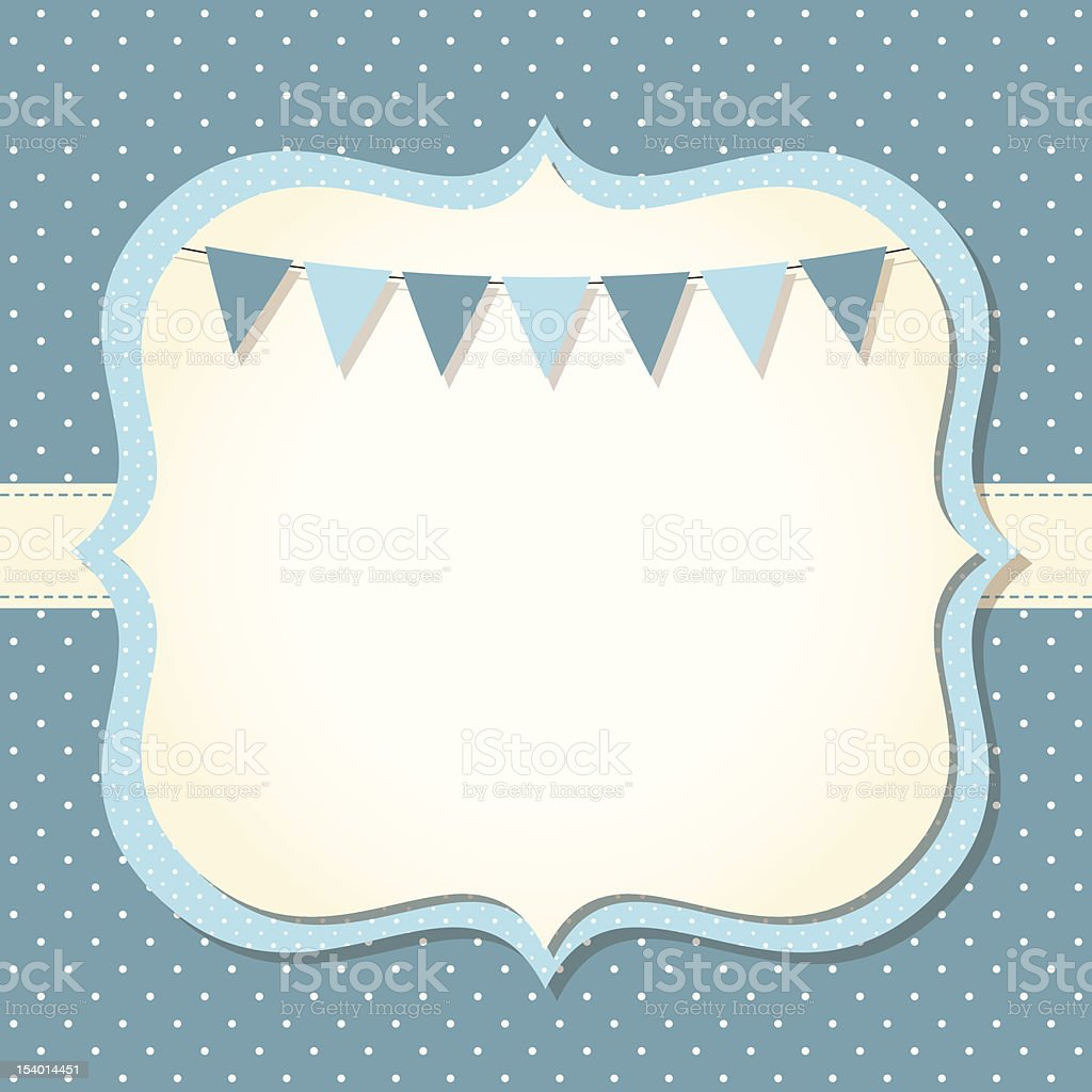 Baby boy arrival or shower card vector art illustration