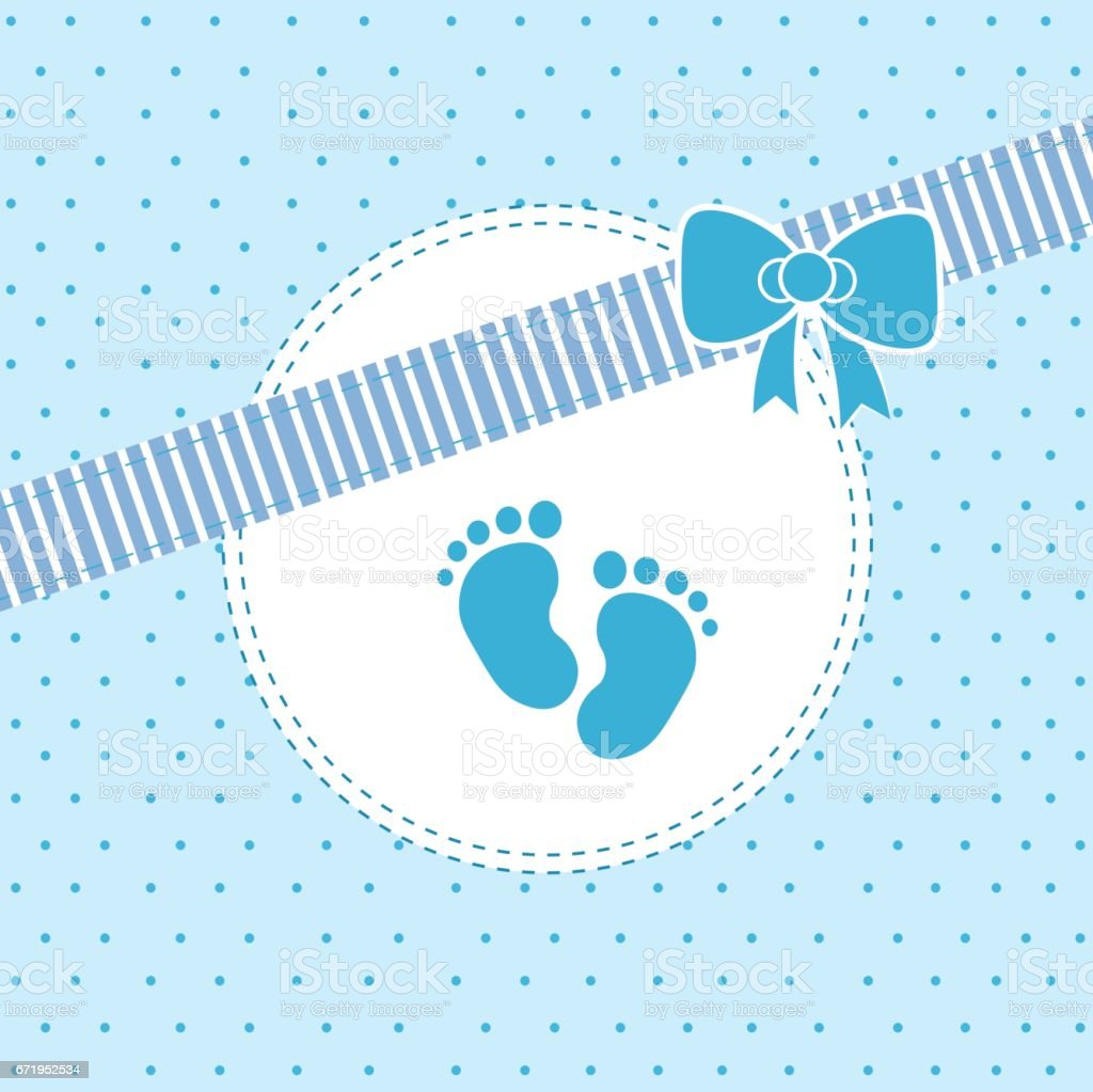 baby boy arrival or shower card it s a boyのベクターアート素材や