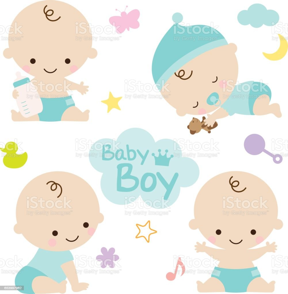 Baby Boy Baby Shower vector art illustration