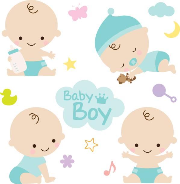 Baby Boy Baby Shower vector art illustration