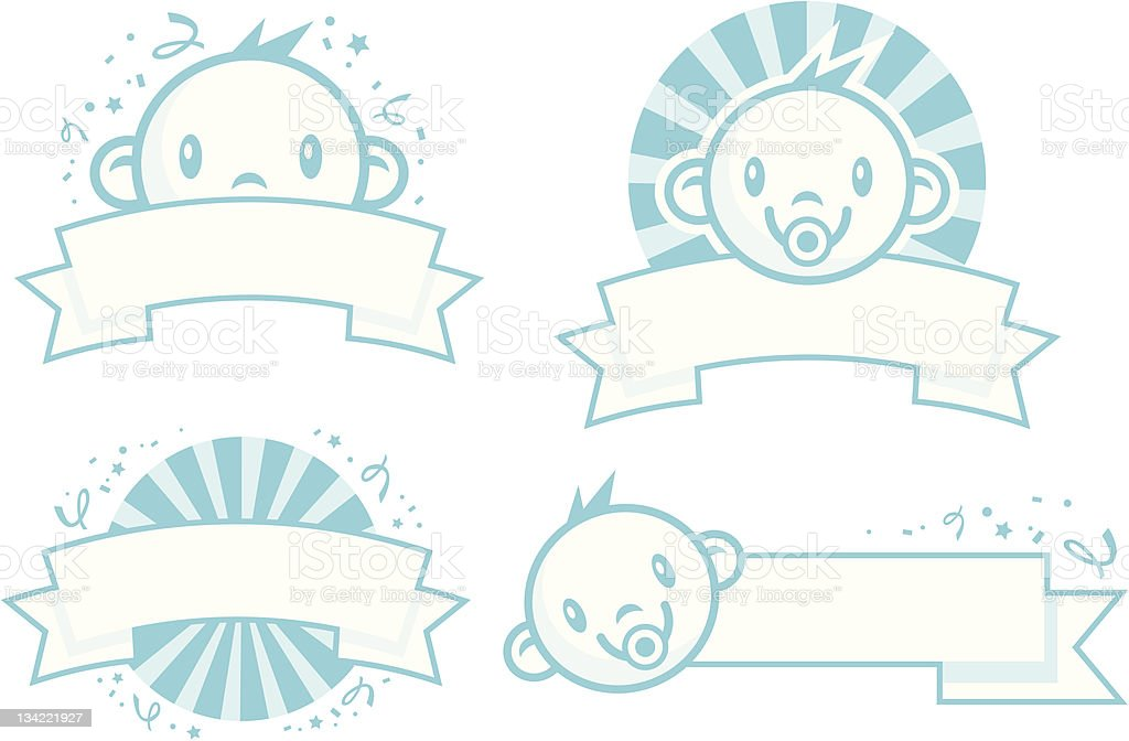 baby boy banners stock vector art more images of 0 11 months