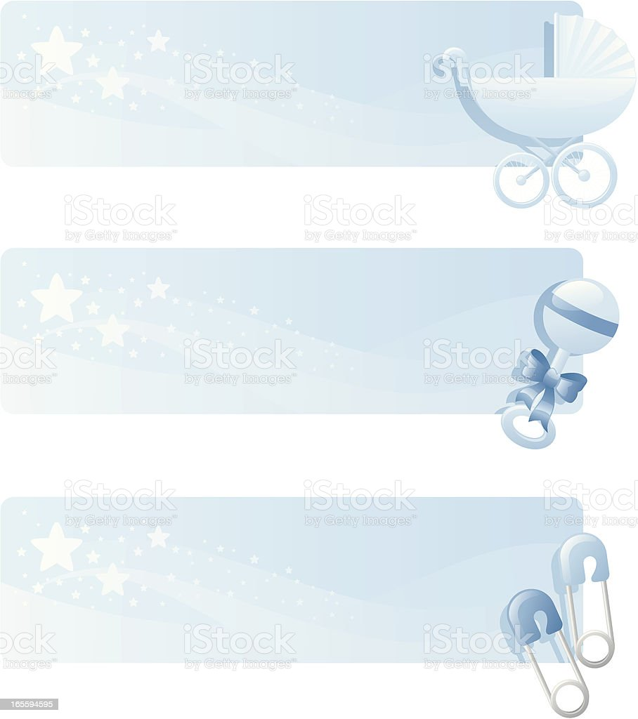 baby boy banners stock vector art more images of abstract