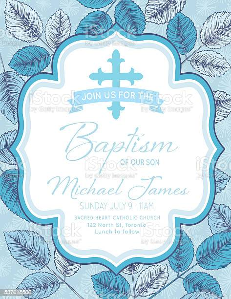 Invitation Card For Christening Baby Boy Background - Free ...
