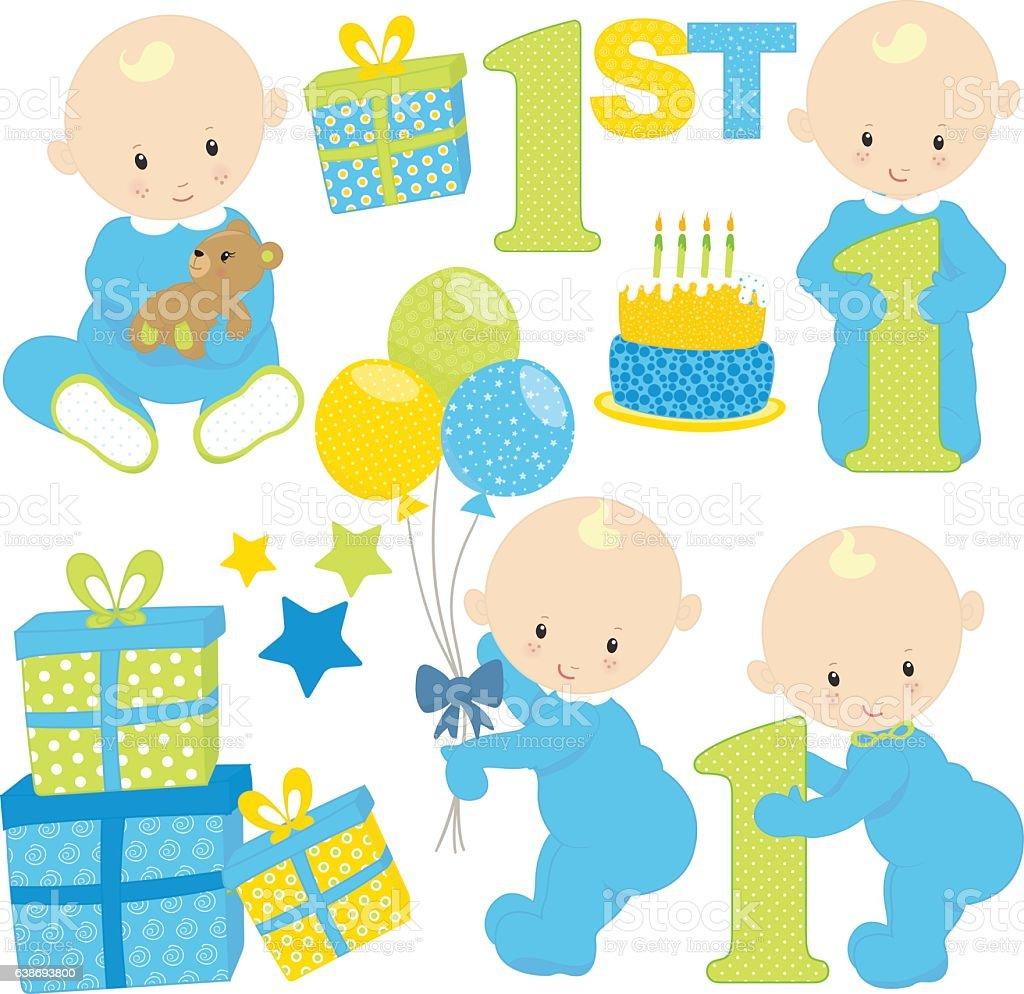 baby boy birthday のイラスト素材 638693800 istock