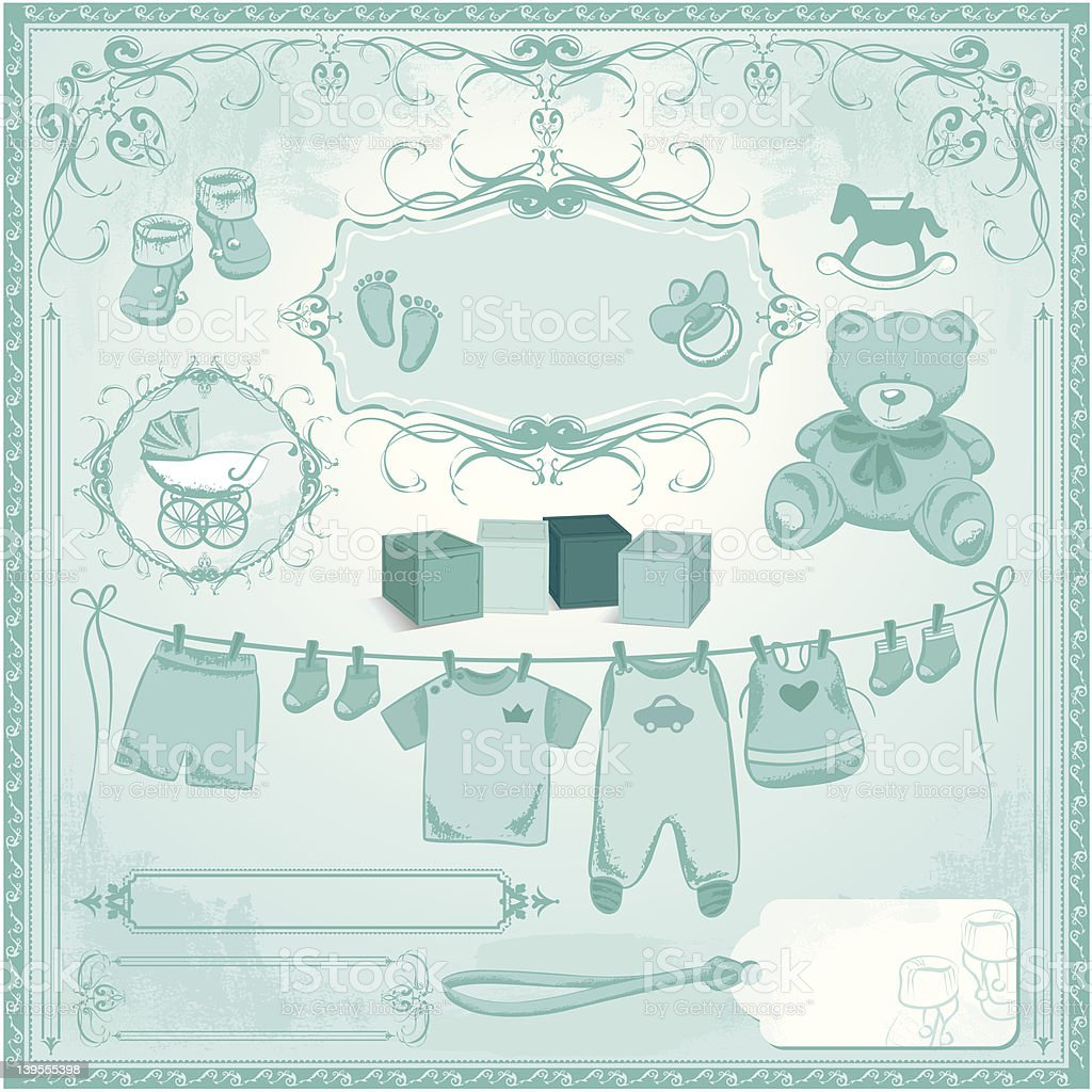 Baby Boy Childbirth royalty-free stock vector art