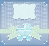 Baby boy congratulation card - elegance vector illustration