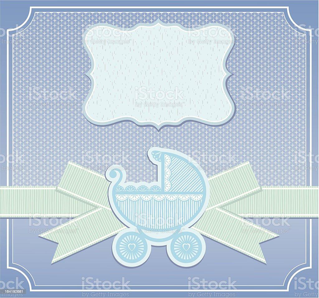 Tarjeta de bebé niño enhorabuena - ilustración de arte vectorial