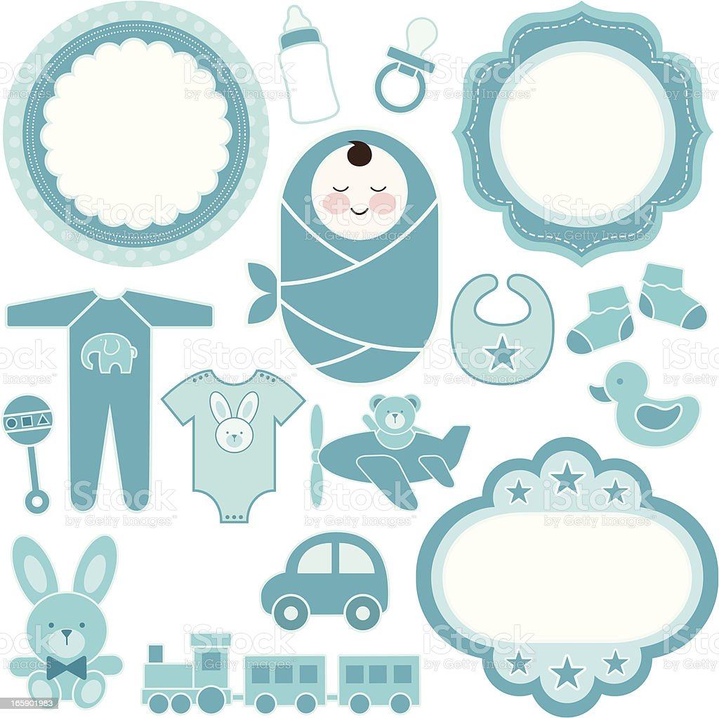 Baby Boy Design Set royalty-free stock vector art