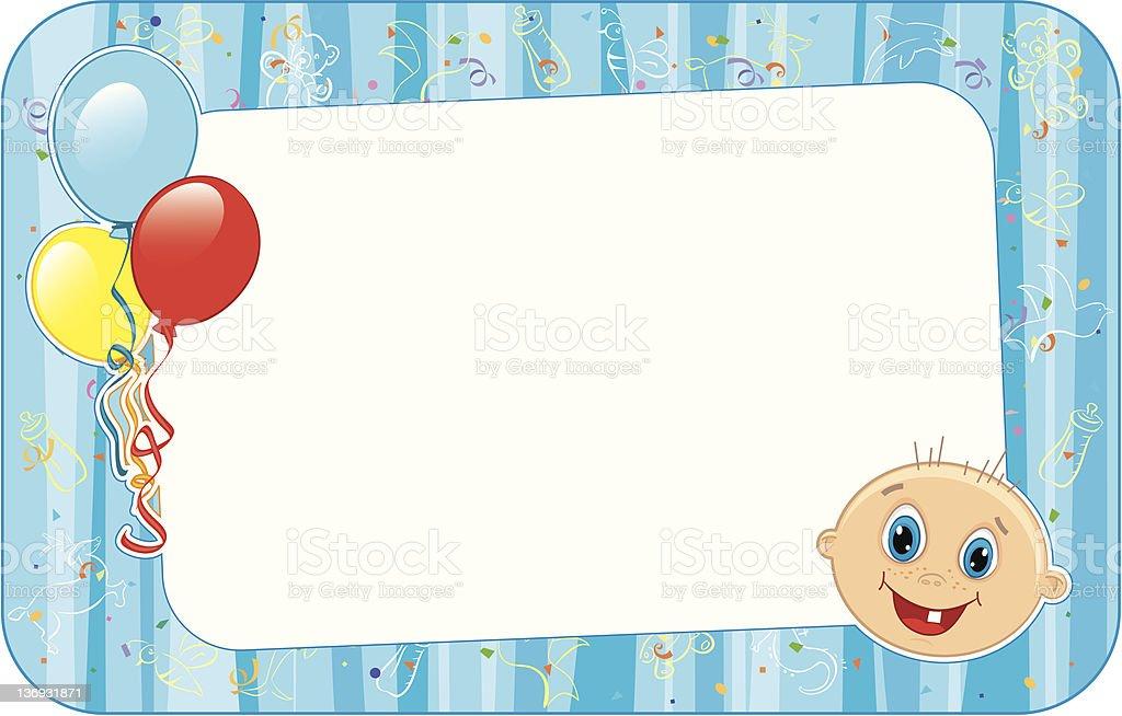 Baby Boy Clip Art Frame - #1 Clip Art & Vector Site •
