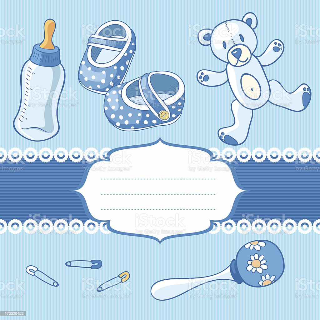 baby boy greeting card royalty-free stock vector art