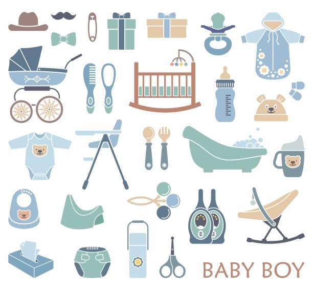 baby boy アイコン - ベビーフード点のイラスト素材/クリップアート素材/マンガ素材/アイコン素材