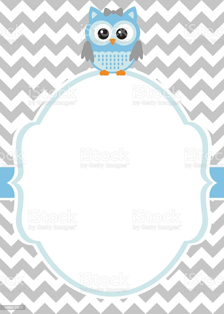 baby boy invitation template stock vector art more images of