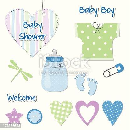 istock Tarjeta de ducha de niño bebé-elementos de diseño para álbum de  recortes 179576648 7de6e0be960b
