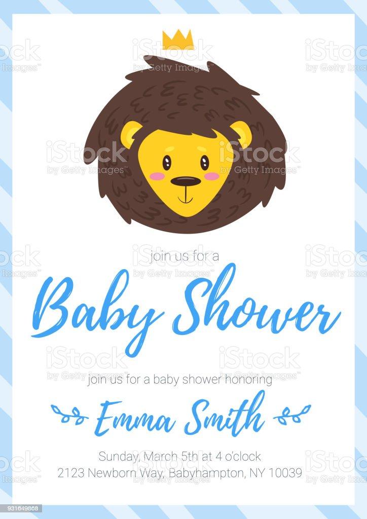 Baby boy shower invitation stock vector art more images of adult baby boy shower invitation royalty free baby boy shower invitation stock vector art amp stopboris Choice Image