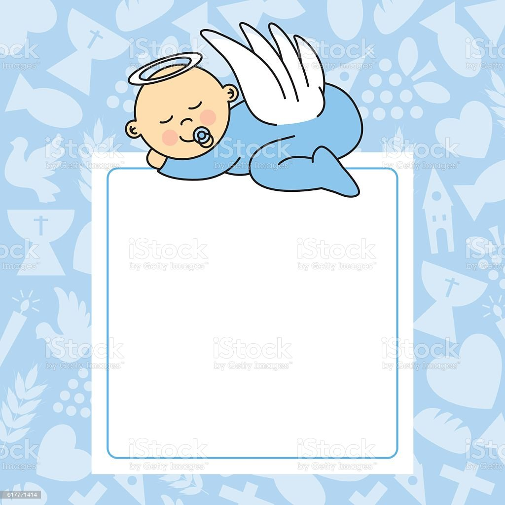 baby boy sleeping vector art illustration