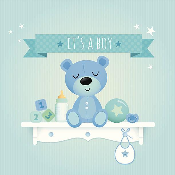Baby boy de peluche - ilustración de arte vectorial