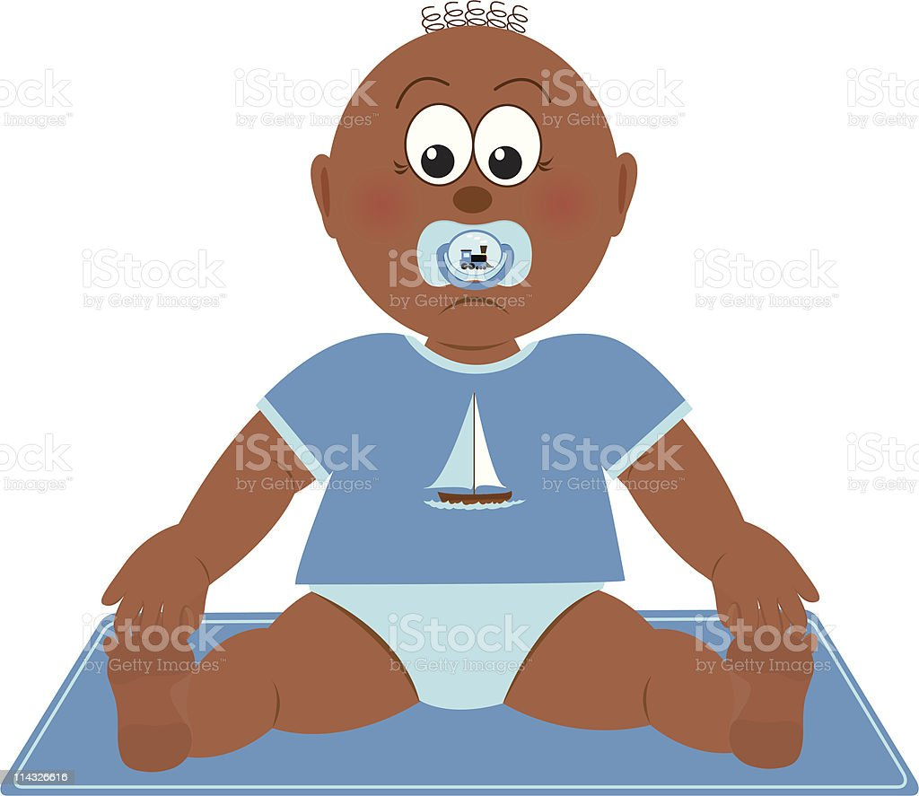 Baby Boy vector art illustration