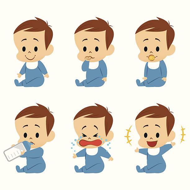 ilustrações, clipart, desenhos animados e ícones de baby menino - novo bebê