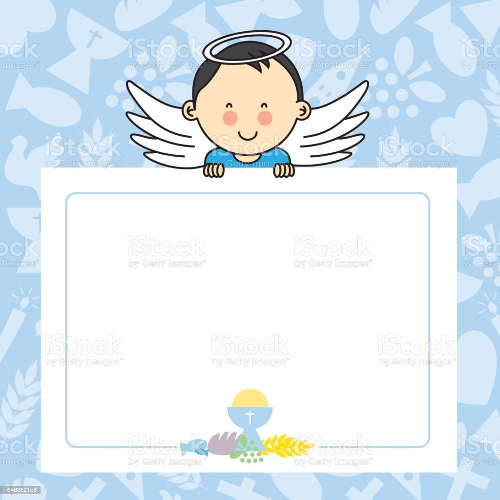 Baby boy with wings vector art illustration
