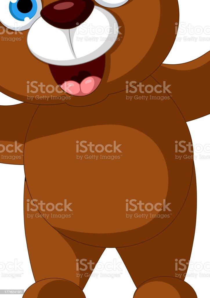 baby brown bear cartoon posing royalty-free stock vector art