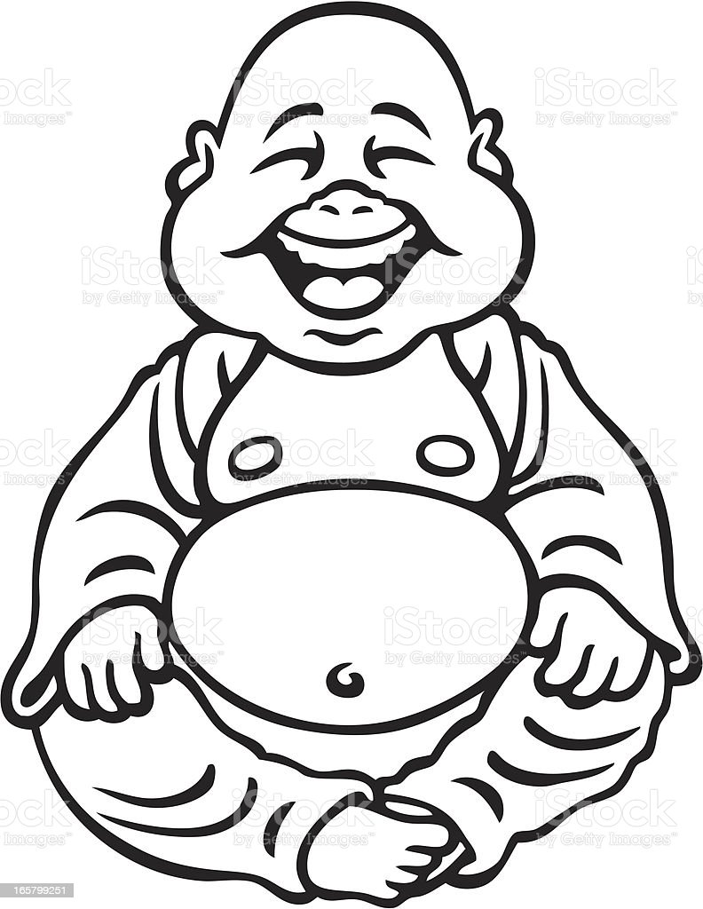 Baby Buddha vector art illustration