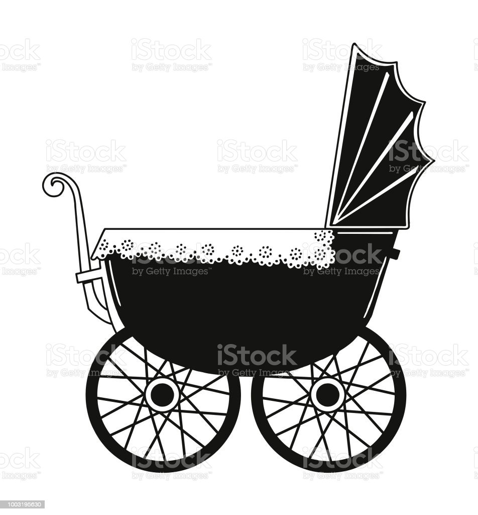 Baby Buggy Stock Vector Art More Images Of Baby Carriage