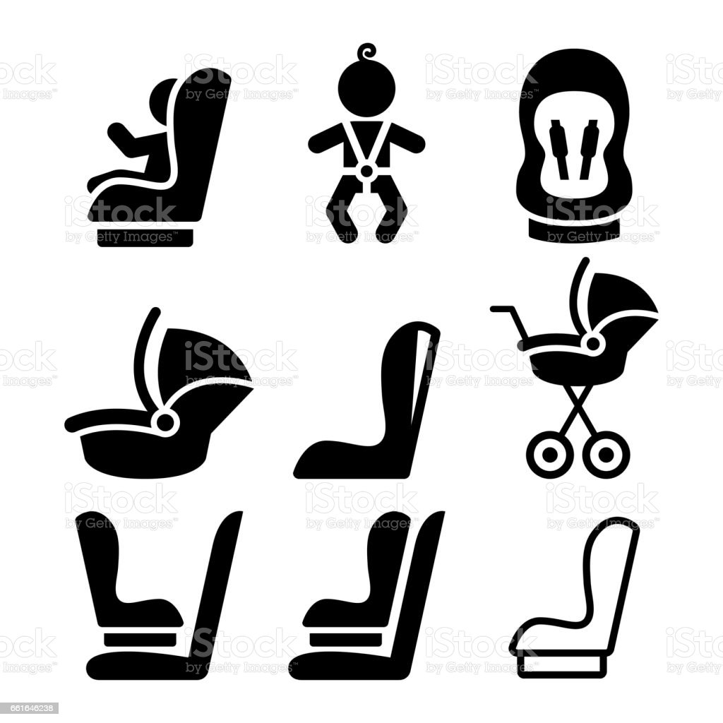 royalty free car seat clip art vector images illustrations istock rh istockphoto com car seat safety clipart Baby Car Seat Clip Art