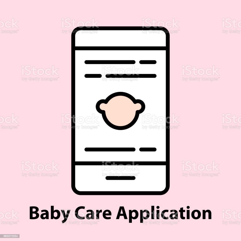 Baby Care Application - Grafika wektorowa royalty-free (Grafika wektorowa)