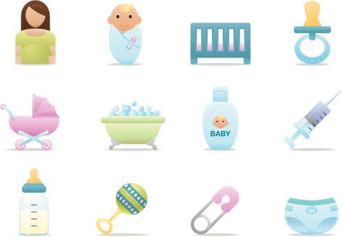 Baby Care icons | Premium Matte series