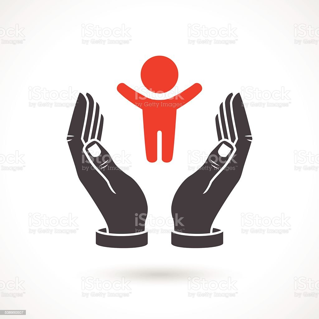 Baby Care Vector Symbol, Family Concept vector art illustration