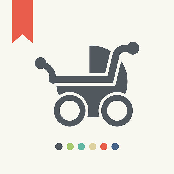 baby carriage icon - babysitter stock illustrations, clip art, cartoons, & icons