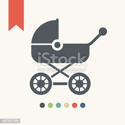 Baby carriage icon,vector illustration.
