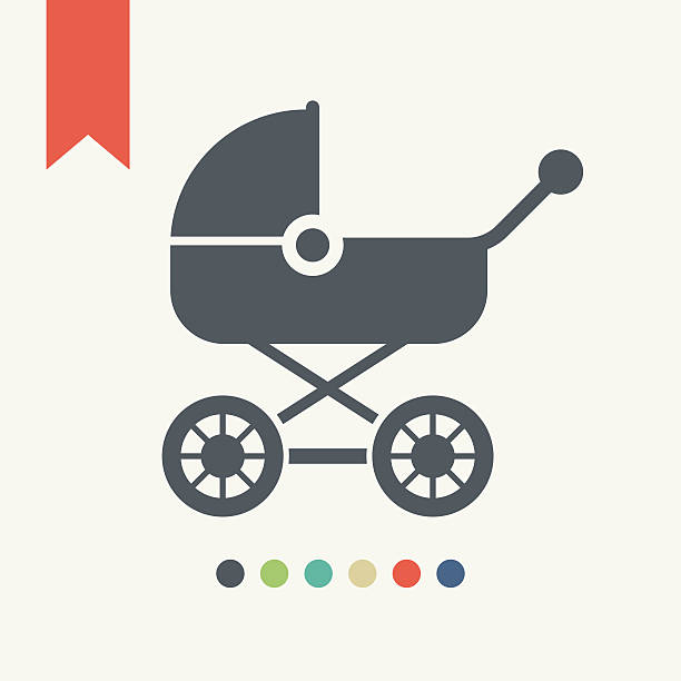 Baby carriage icon Baby carriage icon,vector illustration. baby carriage stock illustrations