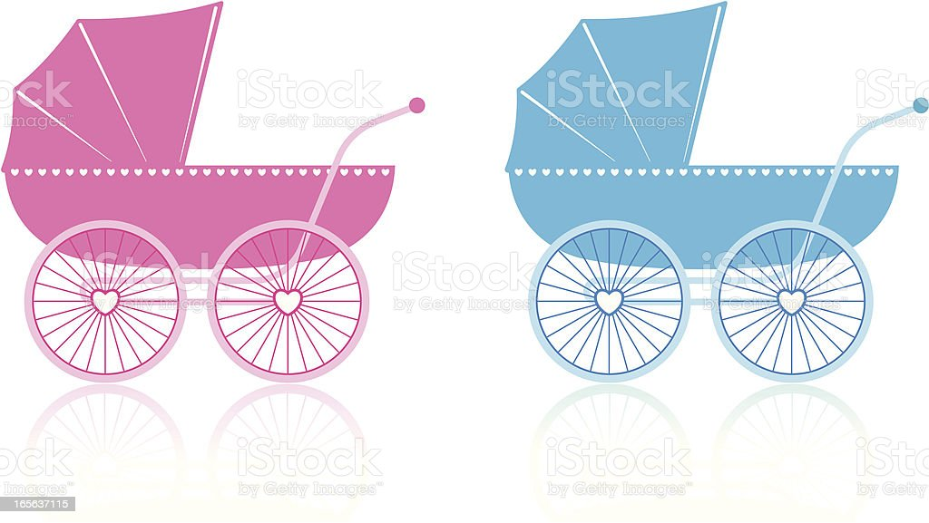 Baby Carriage vector art illustration