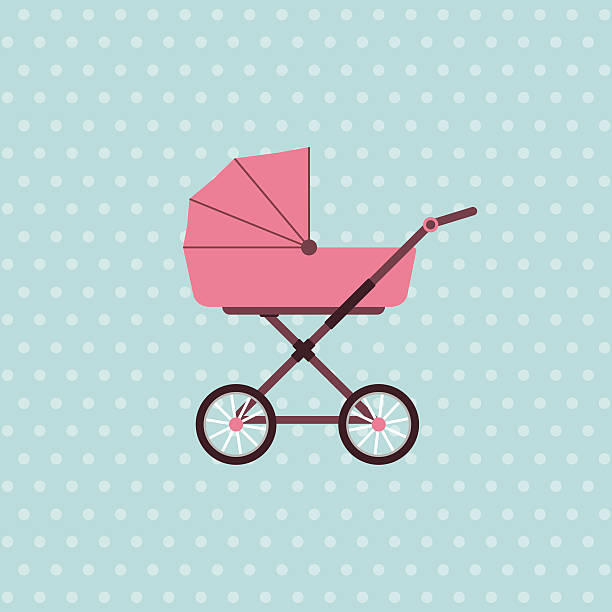 Baby carriage Baby carriage. Vector background with pram. Vector illustration baby carriage stock illustrations