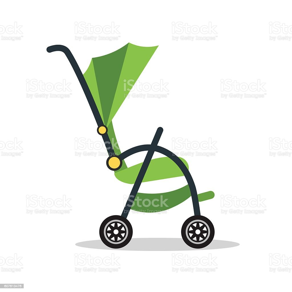 Baby Carriage. Vector vector art illustration