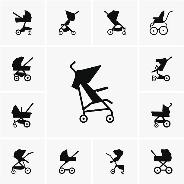 Baby Stroller Illustrations, Royalty-Free Vector Graphics