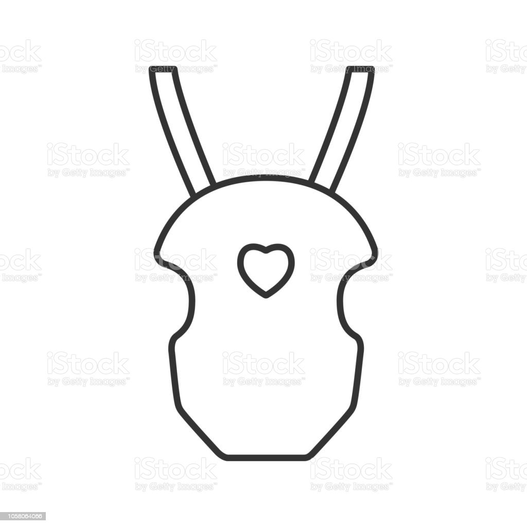 Baby carrier icon vector art illustration