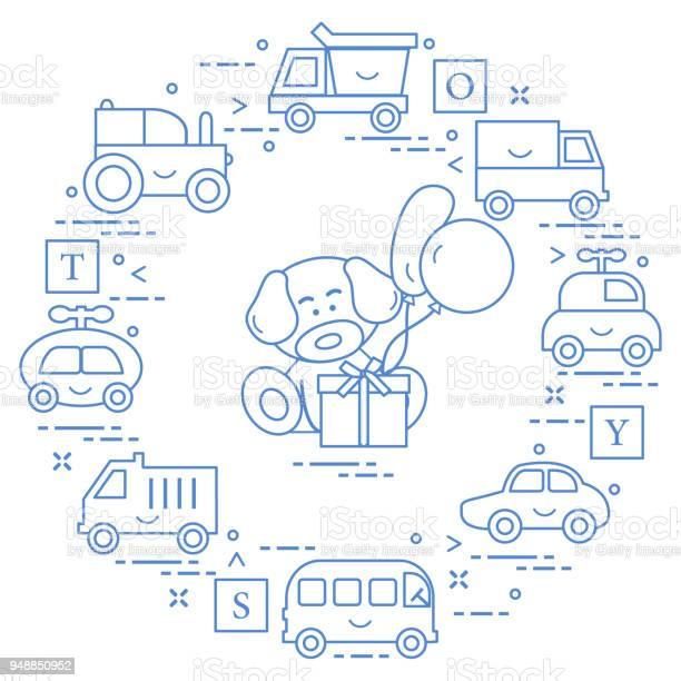Baby cars cubes puppy gift balloons vector id948850952?b=1&k=6&m=948850952&s=612x612&h=i7xdbtzeb9uvajgo8onfwyrfou2l bxxmfsbqduwvay=