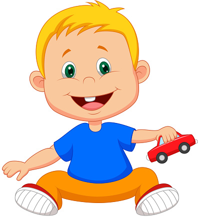 Baby Cartoon Playing Car Toy Stock Illustration Download Image Now Istock